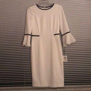 Calvin Klein cream dress